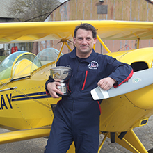 Stephen Steve Evans with BAeA Pitts Special Trophy